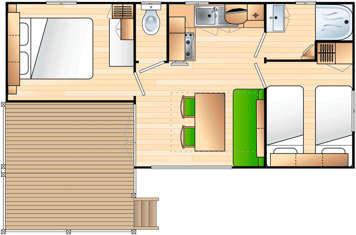 mobile home 4-6 persons map